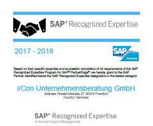 SAP Recognized Expertise in Human Capital Management