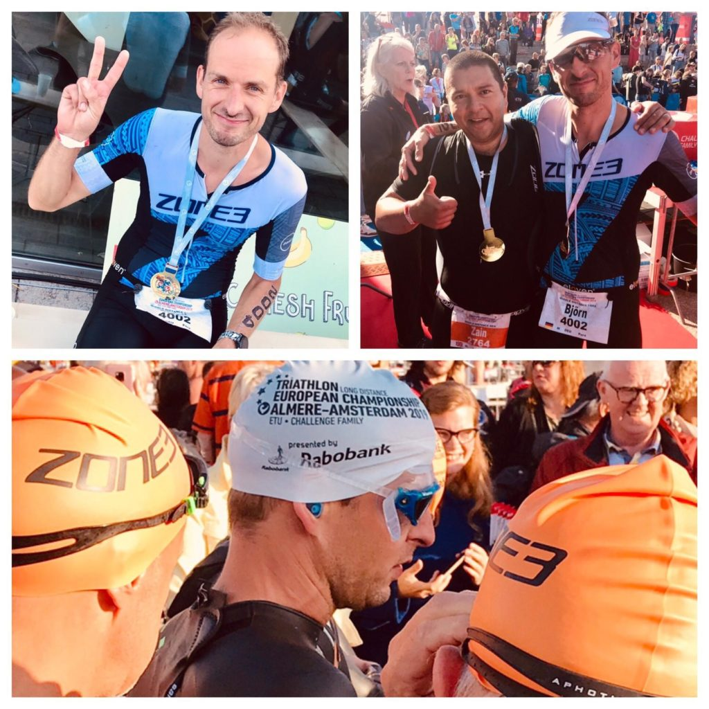 Ein echter champion bei i/Con - Björn Maas siegreicher Triathlet