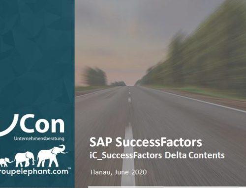 i/Con empfiehlt die SuccessFactors Delta Contents